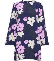 pilke kevättalkoot dress jurk knielengte blauw marimekko