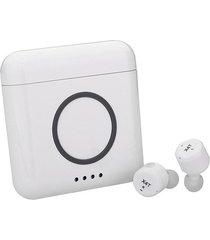 audifonos bluetooth inalámbricos estéreo con mic caja de carga-blanco