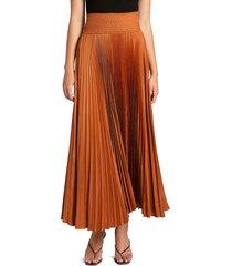 a.l.c. women's demi pleated midi skirt - caramel - size 2