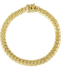 saks fifth avenue men's miami cuban 14k yellow gold chain bracelet