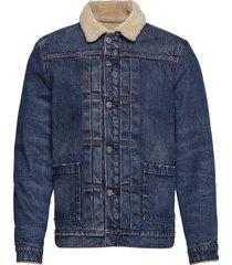 lmc type ii sherpa truck lmc p jeansjack denimjack blauw levi's made & crafted