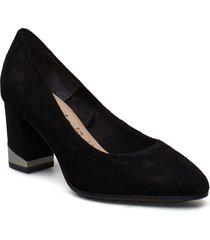 woms court shoe shoes heels pumps classic svart tamaris