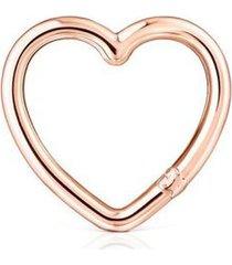 anilla mediana tous hold corazón de plata vermeil rosa 012346540