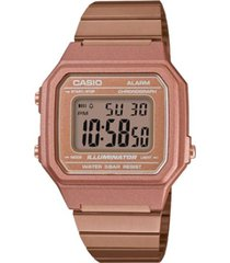 reloj casio b-650wc-5a digital 100% original-oro rosa