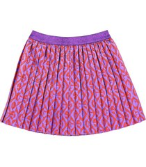 gucci skirt with g pattern rhombus jacquard in lamé