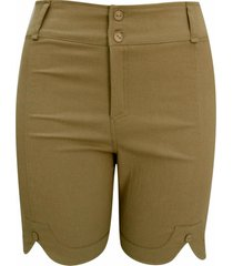 shorts pau a pique sarja cã¡qui - bege - feminino - dafiti