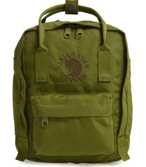 fjallraven mini re-kanken water resistant backpack - green