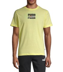 puma men's core international graphic t-shirt - yellow - size s