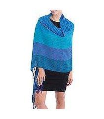 alpaca blend shawl, 'serene beauty' (peru)