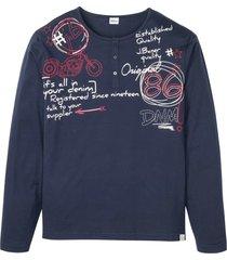 maglia serafino a maniche lunghe (blu) - john baner jeanswear
