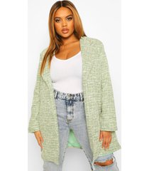 plus bouclé stretch boyfriend blazer, green