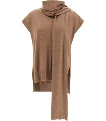 loulou studio sweater with scarf