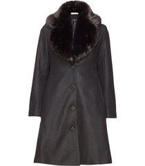 tracey coat wollen jas lange jas zwart ida sjöstedt