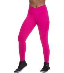 calã§a legging  miss blessed transpassada rosa - rosa - feminino - poliamida - dafiti
