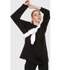 buzo negro-blanco adidas originals sweater