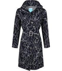 happyrainydays regenjas long coat berbel lines black white