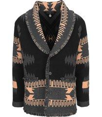 alanui chunky knitted cardigan