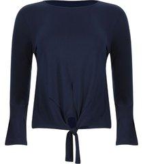 camiseta con lazo unicolor color azul, talla 6