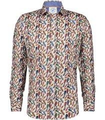 overhemd stretch veren multi