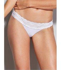 calcinha biquíni com detalhe em renda nude glam hope 13691 p/eg branco