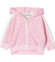 monnalisa pink cotton-blend hoodie
