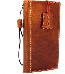 genuine leather case for google pixel xl 2 book wallet cover vintage brown slim