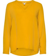 blouses woven blus långärmad gul edc by esprit