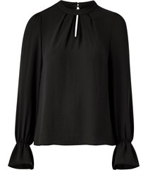 blus vmzigga l/s high neck pleat top