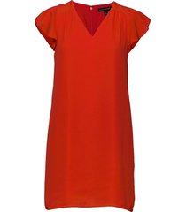 i ruffled mini swing dress kort klänning röd banana republic