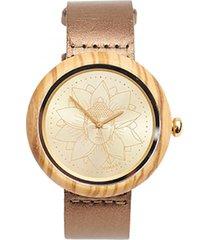 reloj budha dorado humana