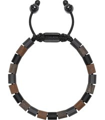 nialaya jewelry wood bead bracelet - brown