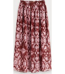 scotch & soda pleated chiffon skirt