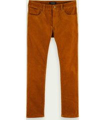 scotch & soda ralston - corduroy | mid rise slim fit broek