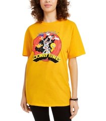 love tribe juniors' cotton looney tunes graphic t-shirt
