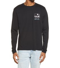 men's bp. men's down to earth long sleeve graphic tee, size xx-large - black
