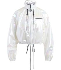 windproof jacket in holographic fabric