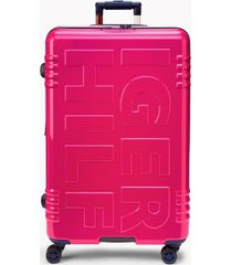 "tommy hilfiger women's 28"" signature spinner suitcase fuschia -"