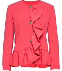 boutique moschino jacket blazers bouclé blazers rosa boutique moschino