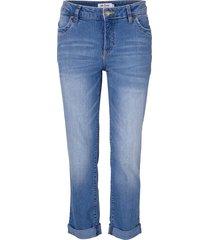 jeans elasticizzato 7/8 stretto (blu) - john baner jeanswear