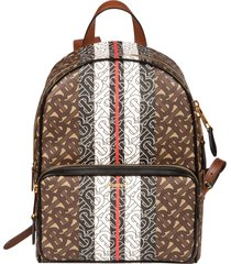 burberry logo motif backpack