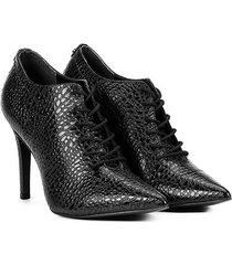 ankle boot couro jorge bischoff salto fino cobra - feminino