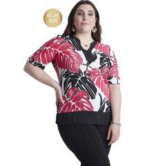 blusa con strass en escote negro lorenzo di pontti