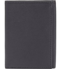 bosca leather trifold wallet in black at nordstrom