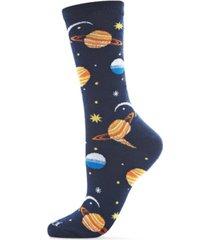 women's planetarium novelty crew socks