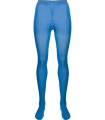 prada high-rise sheer tights - blue