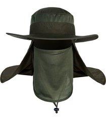 protección solar exterior antimosquitos sombrero pescador pe