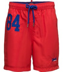 waterpolo swim short surfshorts röd superdry