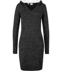 abito in maglia con cappuccio soffice (nero) - john baner jeanswear