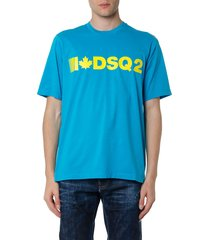 dsquared2 azul cotton logo t-shirt