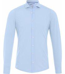 pure heren overhemd licht super stretch polyamide jersey slim fit